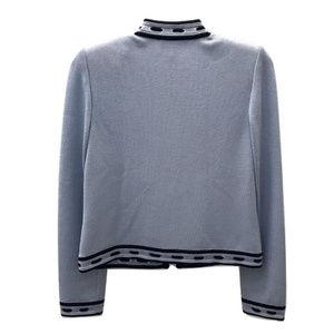 St. John Sweaters - St. John Blue Zip Cardigan